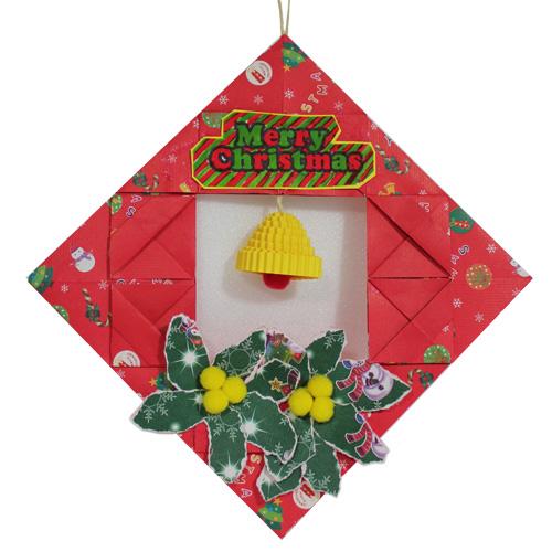 크리스마스 종 리스  (5개세트) - 어린이집 유치원 크리스마스만들기 만들기재료