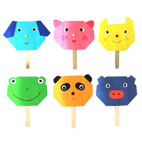 감성쫑이 재미있는 동물 친구들 부채(6개-1set)
