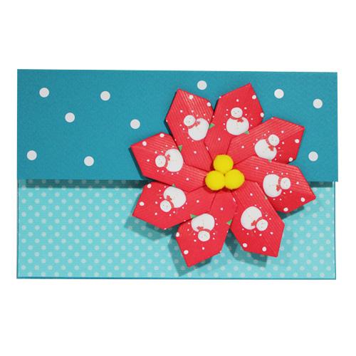 [DIY]크리스마스 샤방샤방 눈꽃송이 카드(10개) - 어린이집 유치원 크리스마스만들기 만들기재료