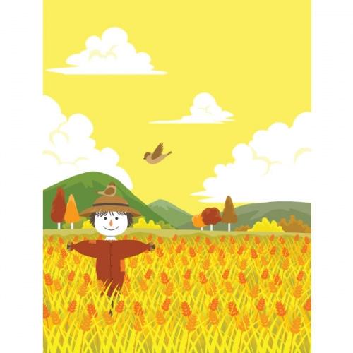 가을배경현수막(허수아비)-363