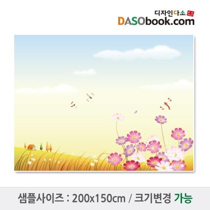 가을배경(코스모스)현수막-018