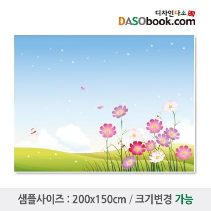 가을배경(코스모스)현수막-019
