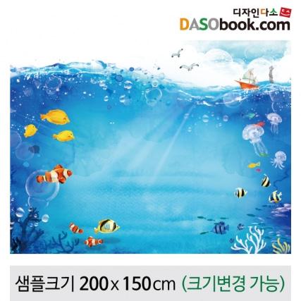 여름바다배경포토존포토월현수막-055