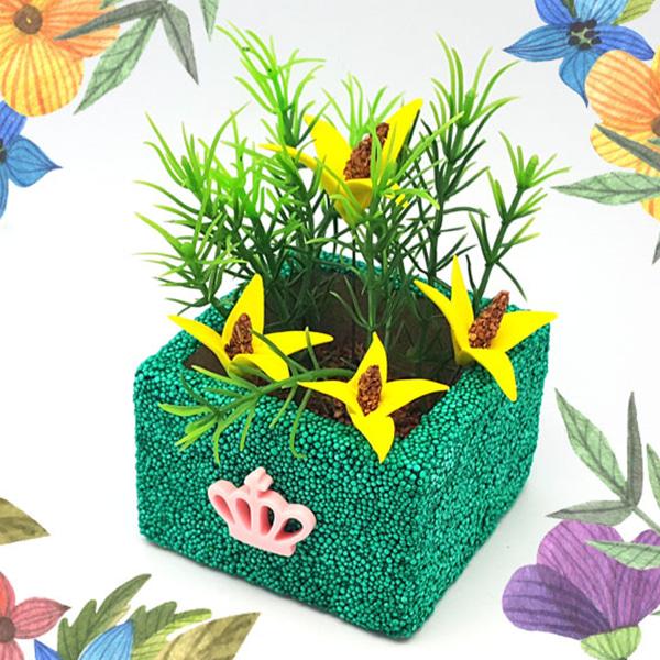 [봄/하비클레이] 봄의 화분 시리즈4 개나리 -5인 세트