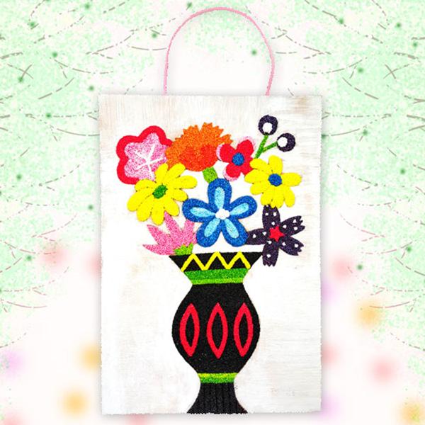 [봄/하비볼클레이] 알록달록 꽃병액자 만들기 -5인세트