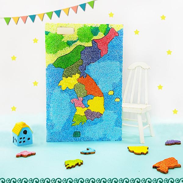 자랑스러운 우리나라 지도 퍼즐 만들기 -1인용 5세트(볼클레이포함)