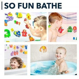 목욕놀이 알파벳 퍼즐 - 배송기간 14~21일(Foam Bath Toys Preschool Alphabet ? Best Baby Bath Toys Toddlers Kids Girls Boys - Premium Educational Floating Bathtub Toys - Non Toxic Letters Animals Bath Toy Set - The Biggest Bathtub Toys - Safe)